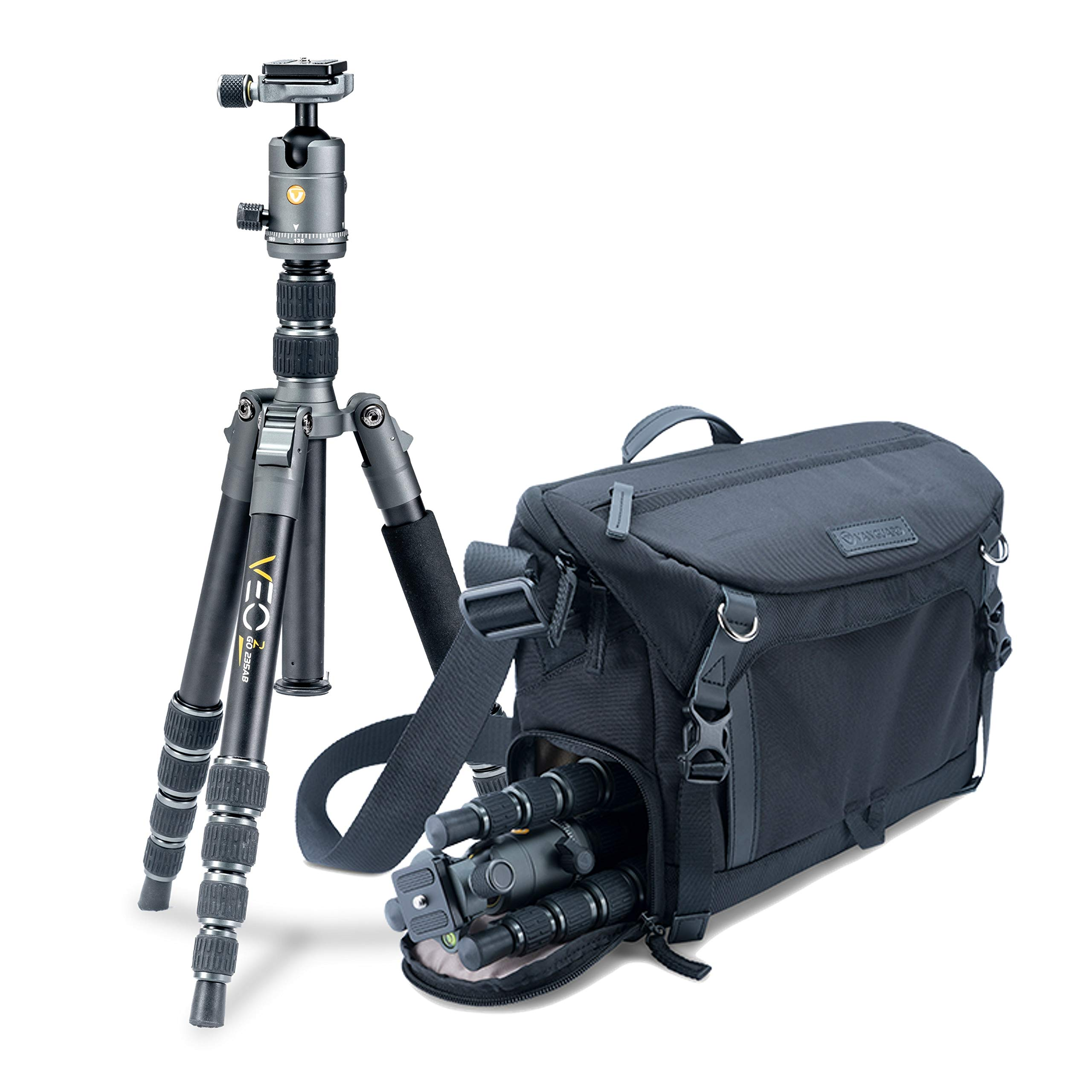 Veo 2GO 235AB Tripod Kit and Veo GO 34M BK Bag by Vanguard