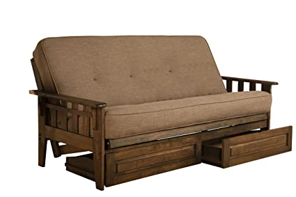 Tremendous Amazon Com Jerry Sales New Vegas Futon Set Rustic Walnut Cjindustries Chair Design For Home Cjindustriesco