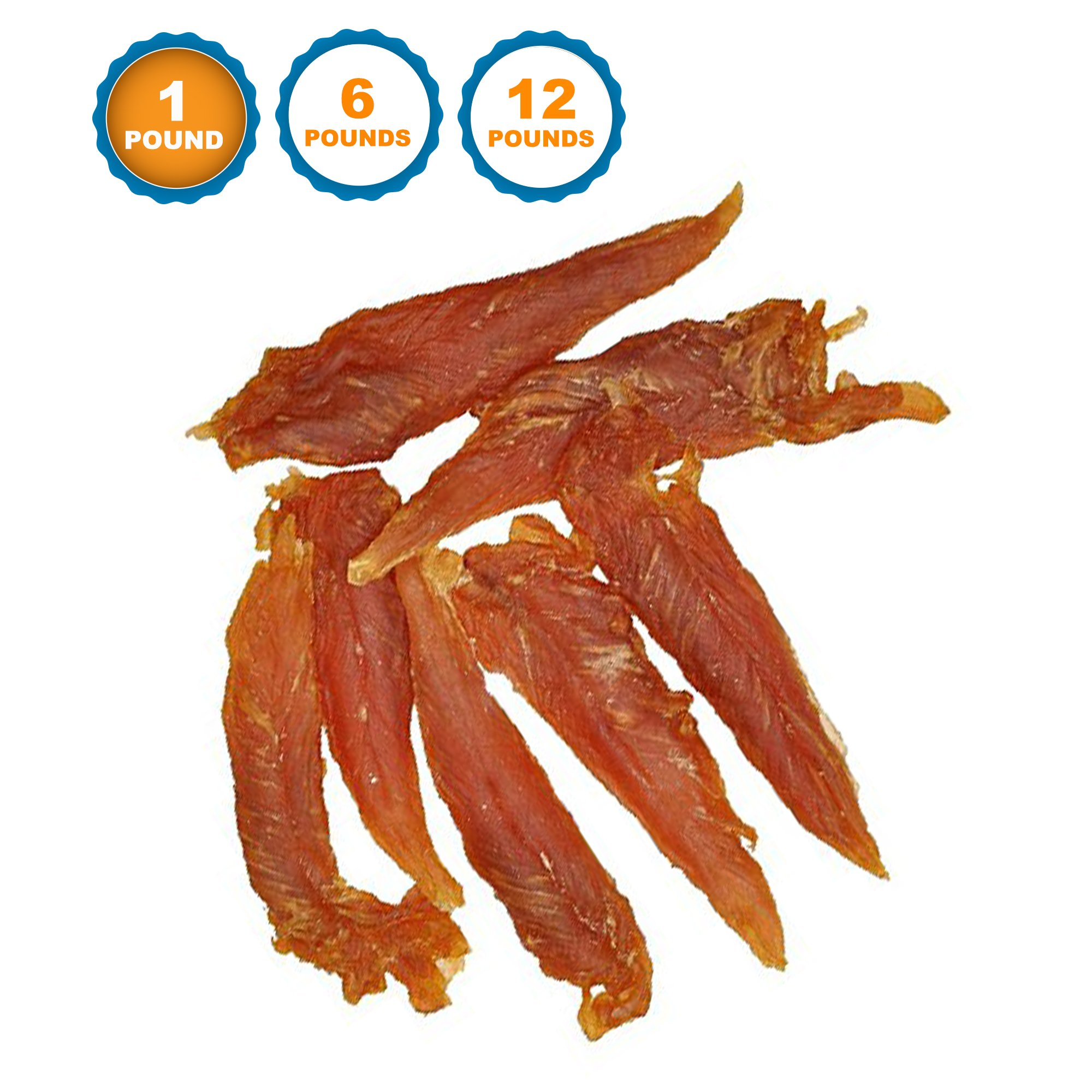 123 Treats Chicken Jerky Dog Treats Bulk (1 Pound) 100% All Natural, Healthy Snacks Dogs - No Fillers Additives – Digestible Delicious Chew Treats Pets – Grain Free by 123 Treats (Image #1)