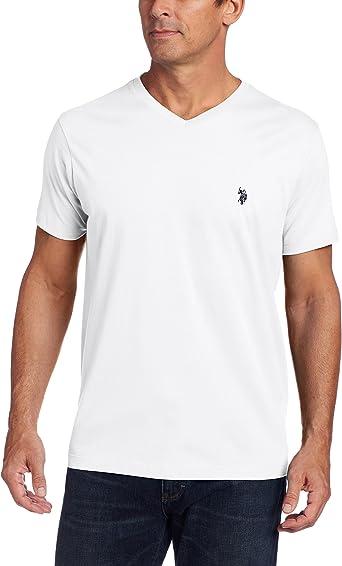 U.S. Polo Assn. - Camiseta de Cuello en V para Hombre, Blanco ...