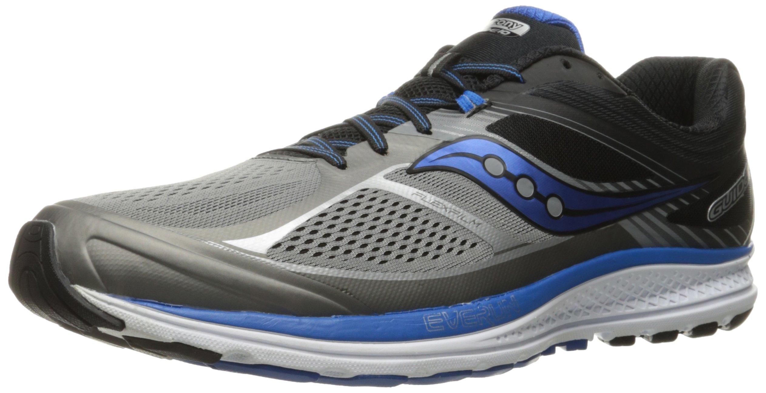 Saucony Men's Guide 10 Running Shoes, Grey Black, 14 D(M) US