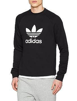 adidas Trefoil Crew Sweatshirt, Hombre, Black, XS: Amazon.es: Deportes y aire libre