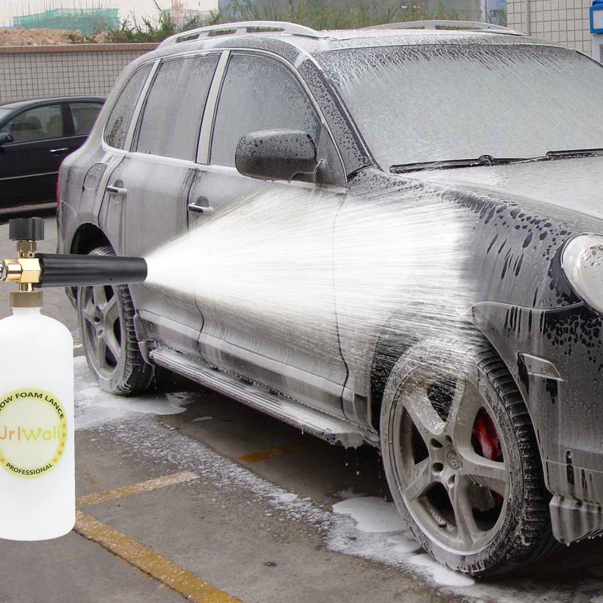 Adjustable Foam Cannon, URLWALL 1 Liter Car Wash Pressure Bottle Snow Foam Lance With 1/4 Quick Connector Foam Blaster for Pressure Washer Gun by URLWALL (Image #6)