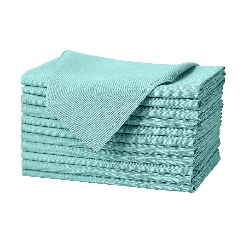 veeyoo redondo rectangular cuadrado sólido poliéster mantel boda Restaurante paño de mesa de fiesta, tela, Turquesa, Napkins-43 x 43 cm: Amazon.es: Hogar