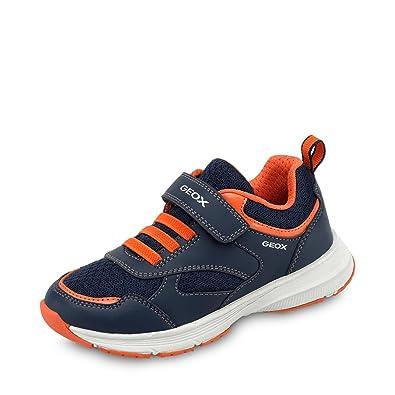 GEOX Scarpe Kids Sneakers J Top Fly In Tela Blu J743UA-0BU11-C0659 a1ef82be84e