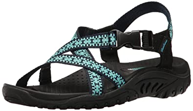 c393b352a1b7 Amazon.com  Skechers Women s Reggae-Kooky Flat Sandal  Shoes