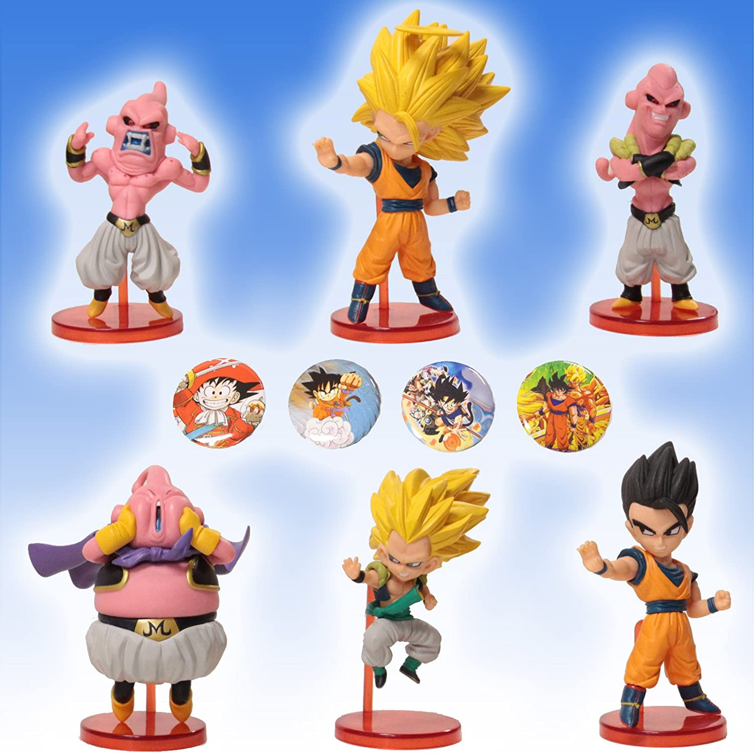 Buy Dragonball Z 10 Piece Action Figure Cake Topper Playset