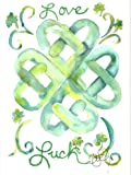 Celtic heart Blank Note Cards: 6 Blank Artistic Watercolor Notecards, with Envelopes - Love & Luck Celtic Heart Knot
