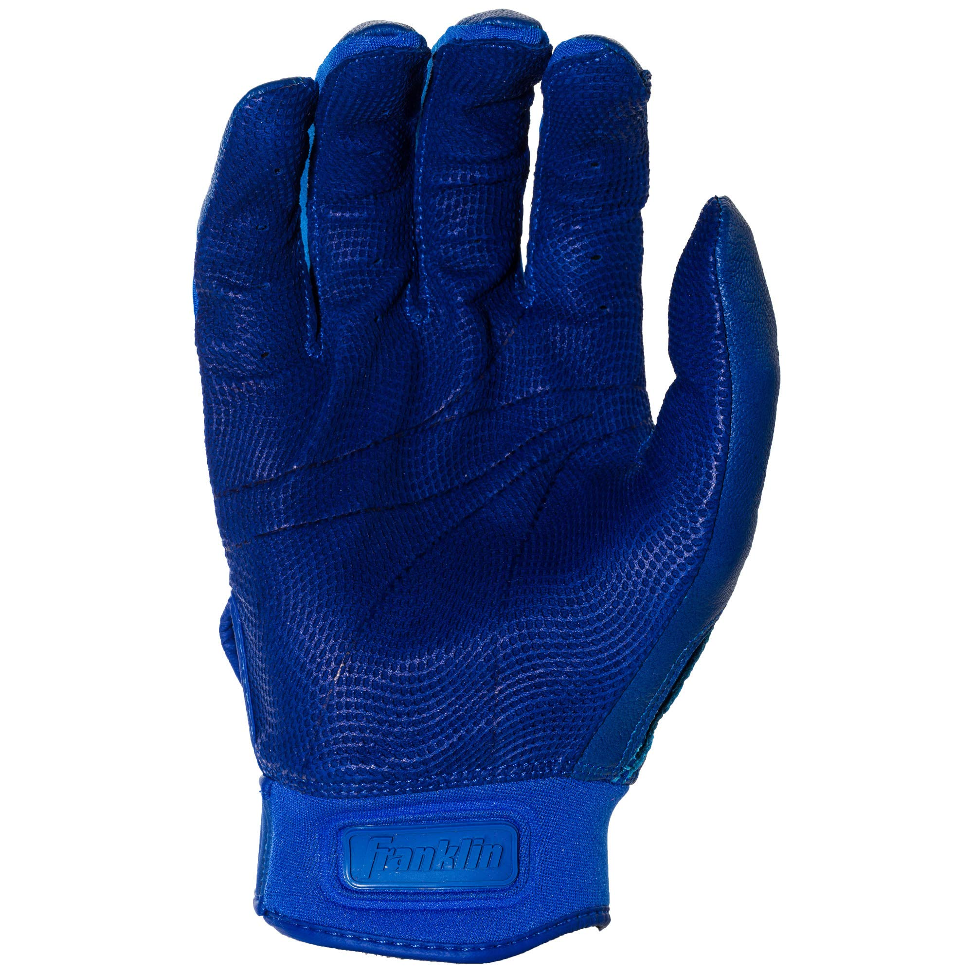 Franklin Sports CFX Pro Full Color Chrome Batting Gloves - Royal - Adult Small by Franklin Sports (Image #3)