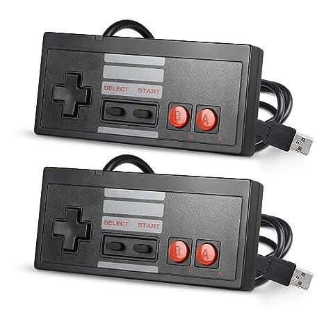 suily - Juego de 2 mandos NES con Cable para PC y Mac Linux ...