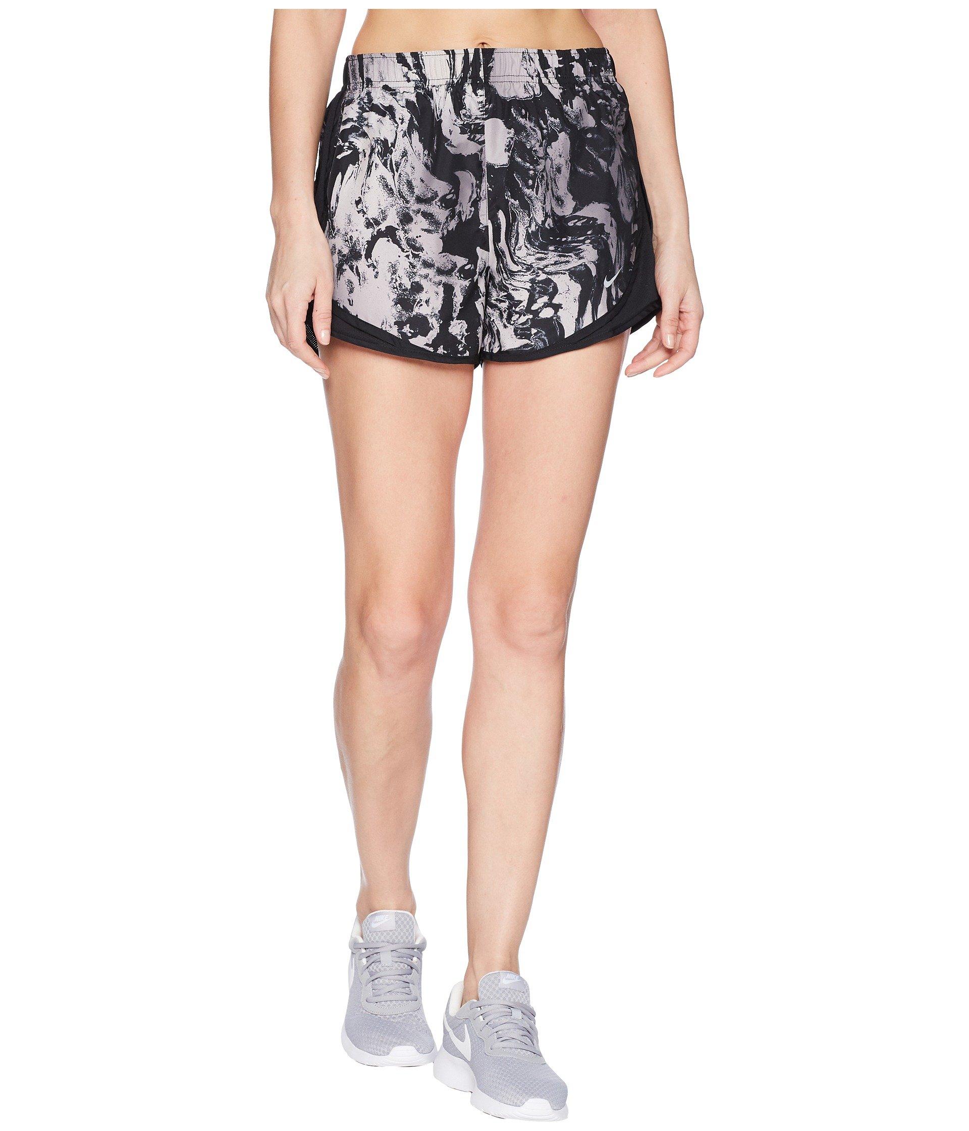 Nike Women's Dry Tempo Print Shorts Black/Black/Black/Wolf Grey X-Small 3