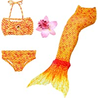Daxiang – Traje de baño de 3 piezas, bikini con cola de sirena (la cola posee una hebilla en la parte baja que al…