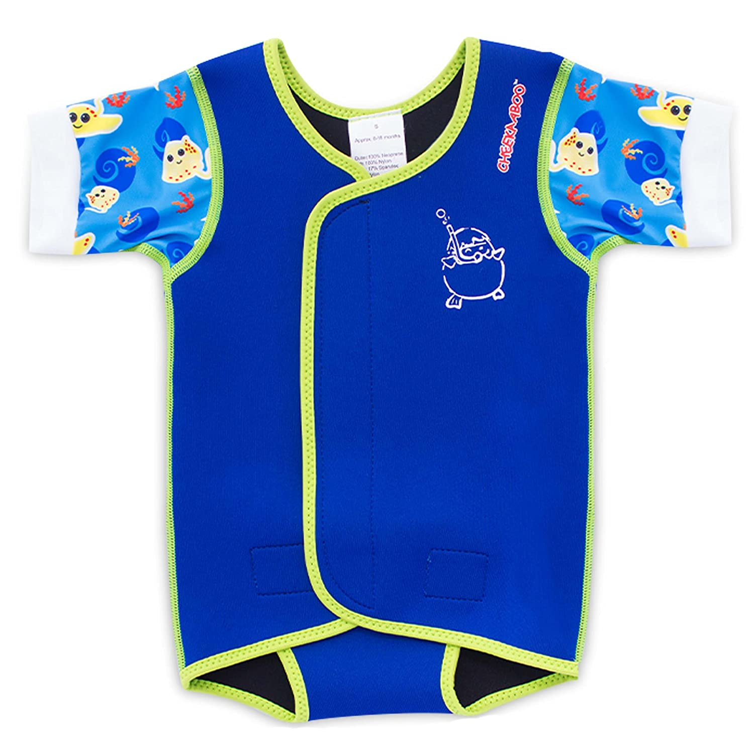 Cheekaaboo Baby Thermal Waterbabes Wrap Swimsuit [Under The Sea Collection] WBW-LB/M.F-6 -18 Months-$P