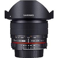 Samyang 7617 - Objetivo para Minolta (distancia focal fija 8 mm, ojo de pez, diámetro: 121 mm) negro