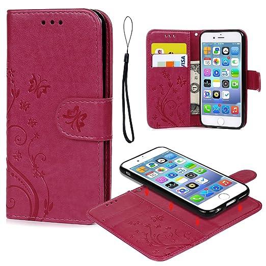 11 opinioni per Cover iPhone 6, iPhone 6s Custodia Pelle Premium PU e Silicone TPU Case [2 in 1,