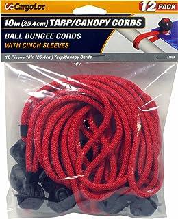 12-Piece Michigan Industrial Tools TEKTON 6261 10-Inch Ball Anchor Tarp Bungee Cord