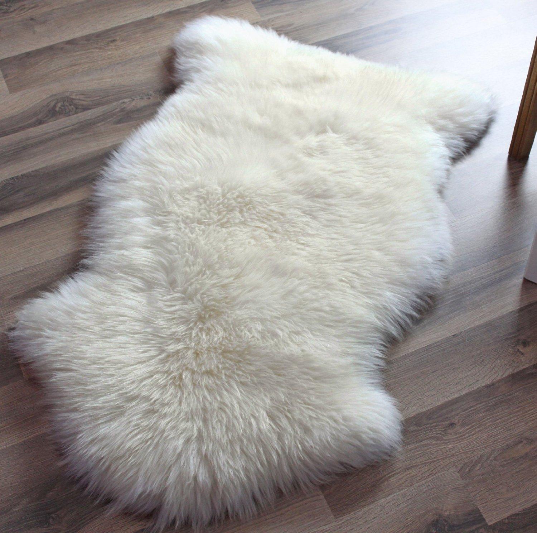 Marvelous Amazon.com: Super Area Rugs, Genuine Australian Sheepskin Rug One Pelt  Ivory Natural Fur, Single: Home U0026 Kitchen