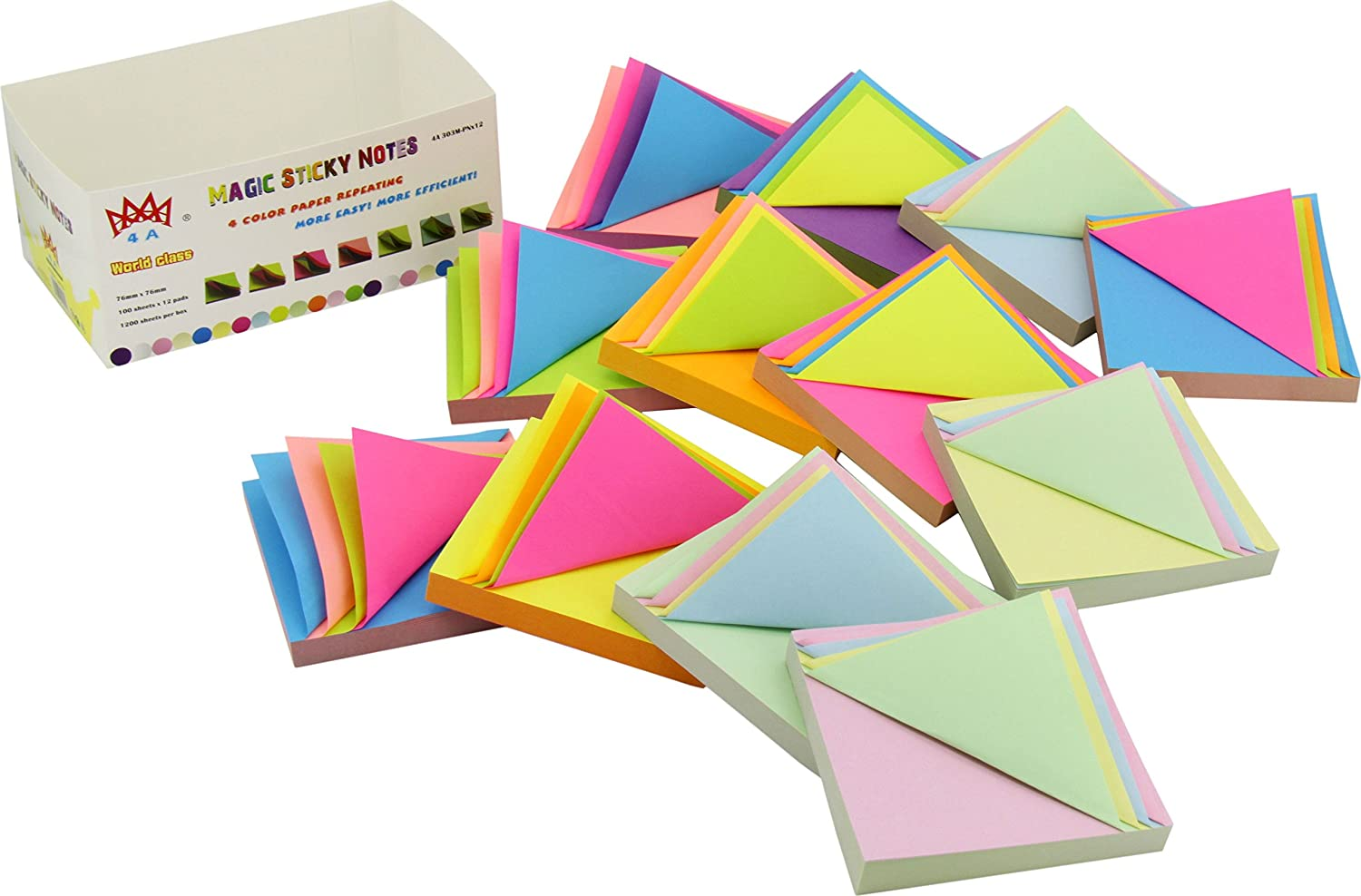 4a magic sticky notes4 color paper repeatingpad33 inches100 4a magic sticky notes4 color paper repeatingpad33 inches100 sheetspad12padsbox 5 boxes 4a mg30312 more easyefficient jeuxipadfo Images