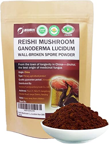 Red Reishi Mushroom Powder Spore Powder 7oz 200g Wall-Broken Pure Ganoderma Lucidum Organic Non-GMO, 100 Servings