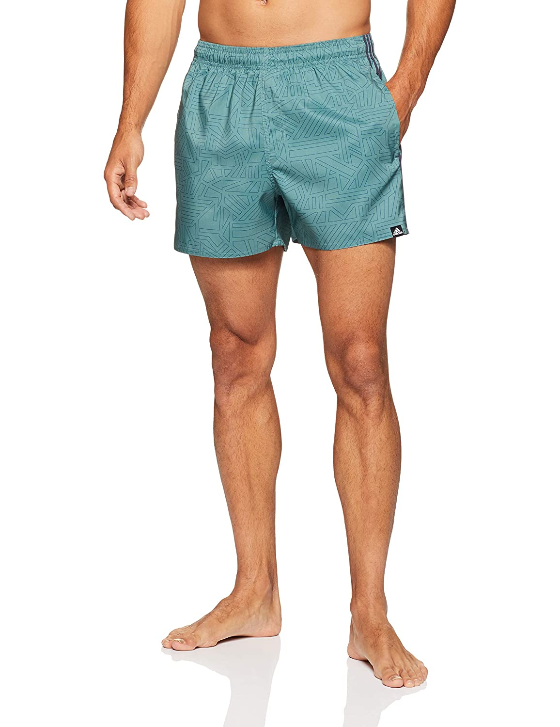 c524dc32cb adidas Men's 3-Stripes AOP Very Length Swim Shorts: Amazon.co.uk: Sports &  Outdoors