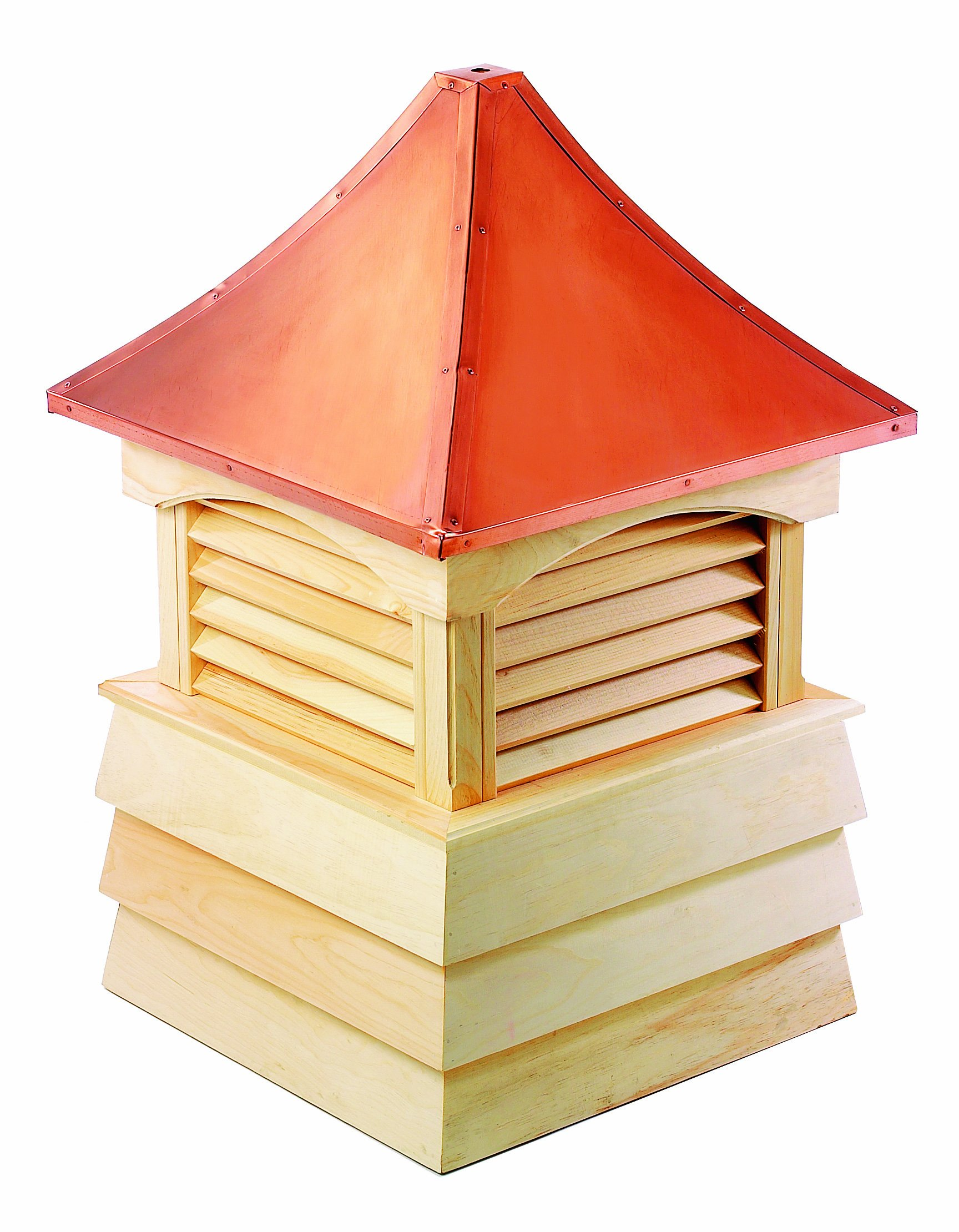 Good Directions Sherwood Wood Shiplap Cupola with Copper Roof 18'' x 26''