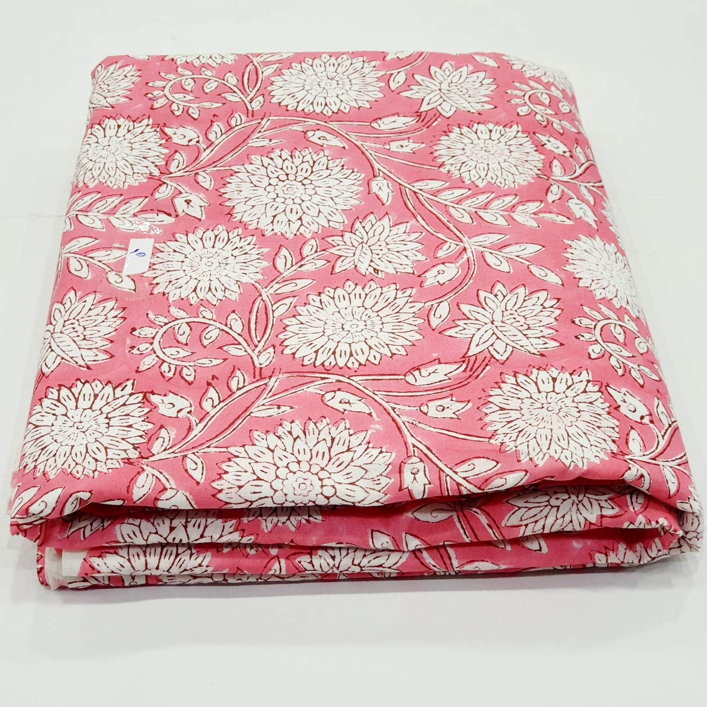 Flower print cotton Fabric By Yard womens clothing casual dresses block print fabric indian fabric vegetable dyes dresses stamped fabric