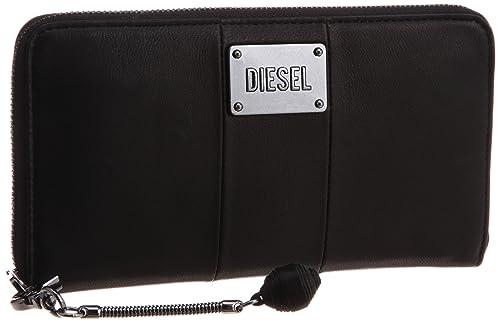 Diesel GRANATO - Monedero de Cuero Mujer, Color Negro, Talla ...