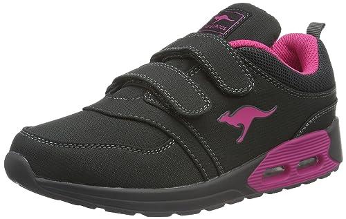 KangaROOS bluRun 2081, Low-Top Sneaker Unisex - bambino, Blu (Blu (dk navy/lime