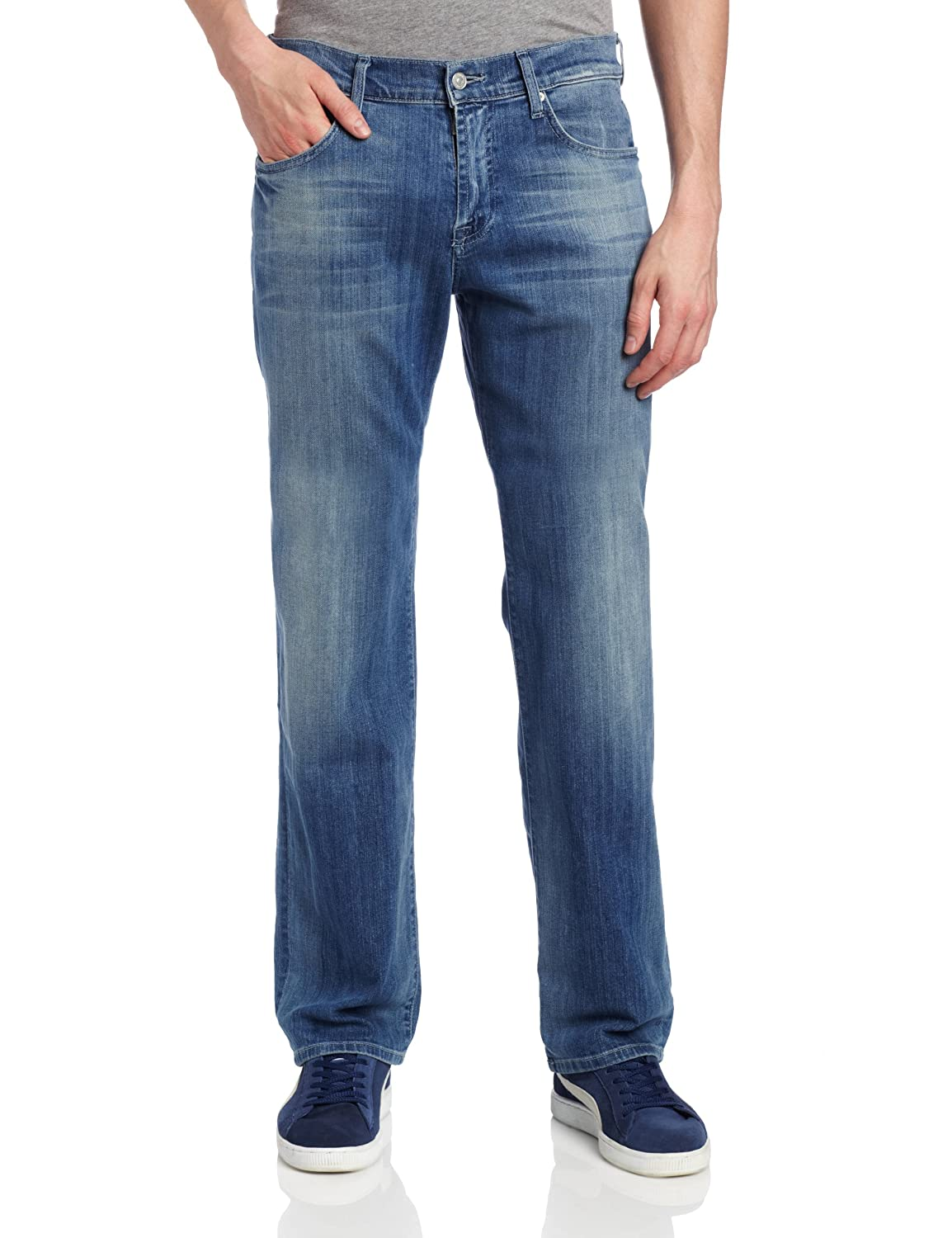 7 For All Mankind Men's Austyn Relaxed Straight-Leg Jean in Washed Out