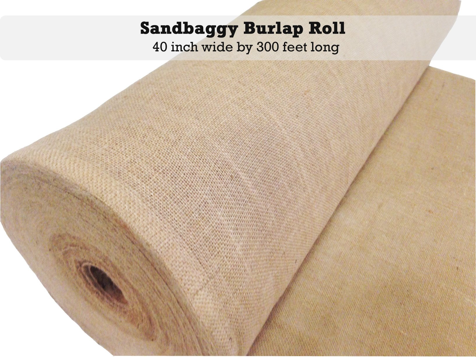 Sandbaggy Burlap Fabric Roll- for Garden, Yard, Wedding, Craft, Decorating Tables - 40 inch x 300 ft (1) by Sandbaggy (Image #2)