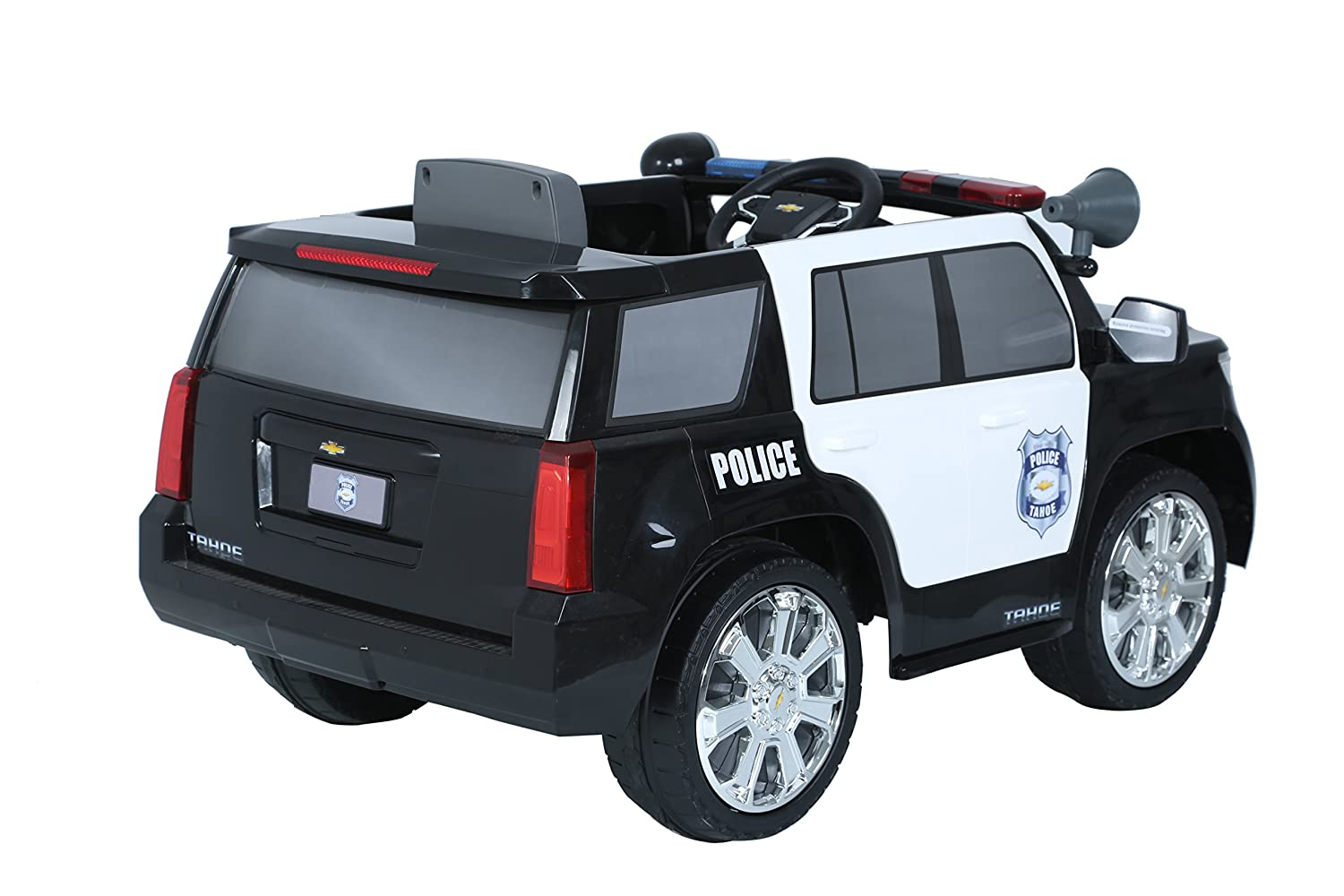 Chevy Power Wheels >> Rollplay 6 Volt Chevy Tahoe Police Suv Ride On Toy Battery Powered Kid S Ride On Car