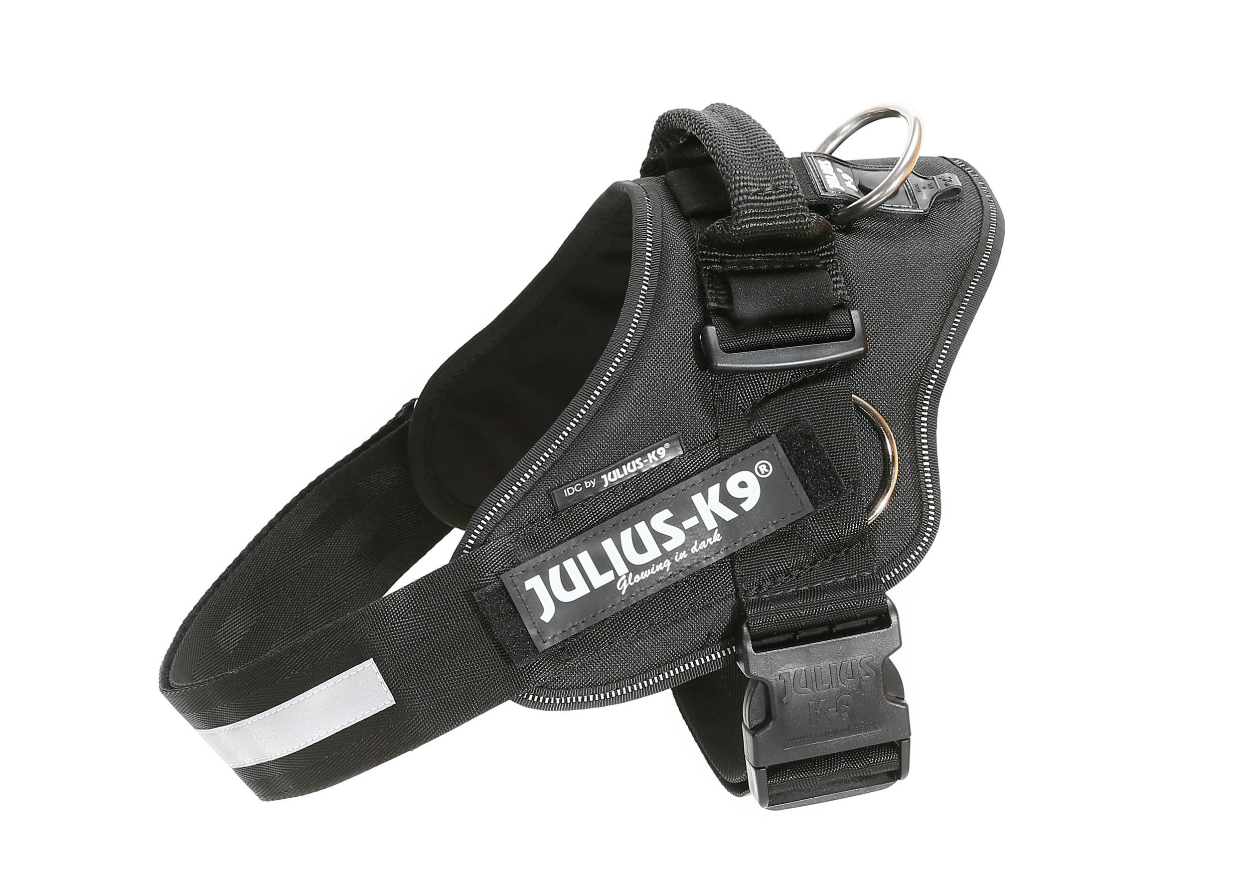 Julius-K9 16223-IDC P IDC PowerHarness with Side Rings for Dogs, Size 3, Black