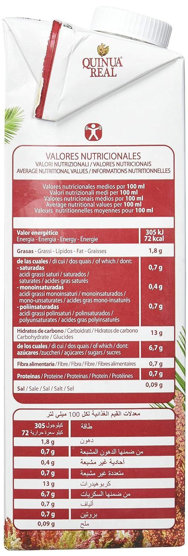 Bebida de quinoa, arroz y coco - Quinua Real - caja de 6 uds de 1000 ml. (Total 6000 ml.)
