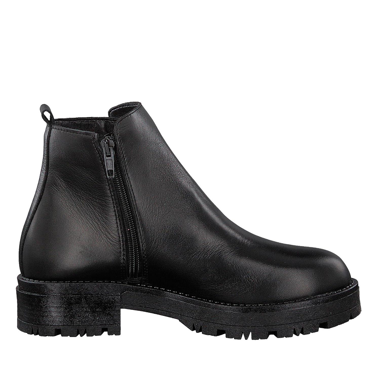 Tamaris 25796-39 061 Damen Stiefel aus aus aus Glattleder Reißverschluss Lederinnensohle, Groesse 41, schwarz fa2c07