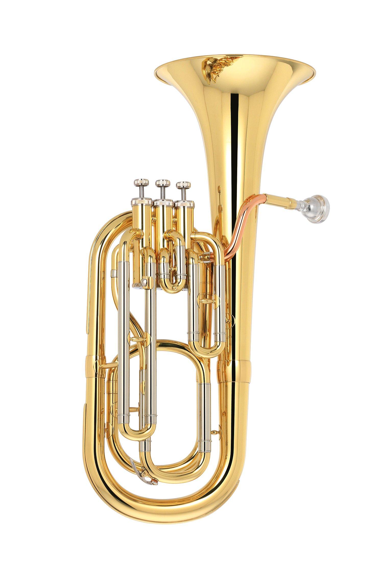 Kaizer Baritone Horn 2000 Series B Flat Bb Gold Lacquer BRH-2000LQ