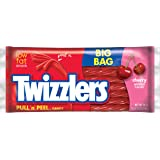 TWIZZLERS PULL 'N' PEEL Candy, Cherry Flavored Licorice Candy , 28 Ounce Big Bag (Pack of 4) (Halloween Candy)