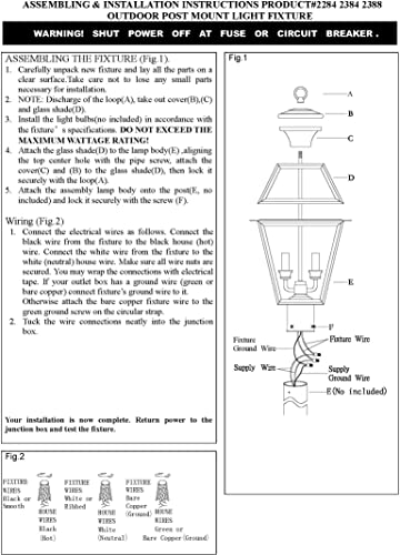 Livex Lighting 2284-01 Westover 2-Light Outdoor Post Head, Antique Brass