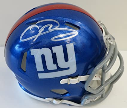 38a24e1581b59 Amazon.com: Odell Beckham Jr. Autographed Riddell Mini Speed New ...