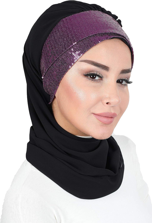 Shawl for Women Instant Scarf Chiffon Modesty Turban Cap Hat Head Wrap