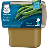 Gerber 2nd Foods Green Beans, 4 oz Tubs, 2 Count