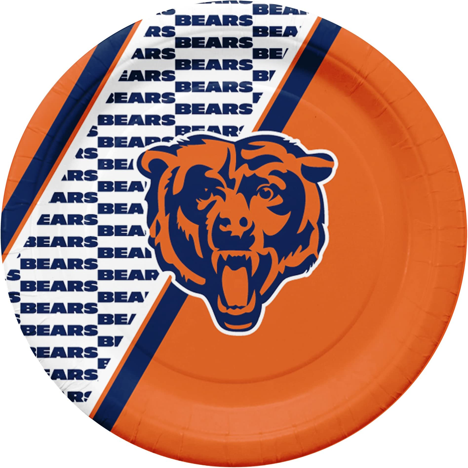 NFL Chicago Bears Disposable Paper Plate (20-Pack)  sc 1 st  Amazon.com & Amazon.com: Paper Cups \u0026 Plates - Gameday \u0026 Tailgating: Sports ...