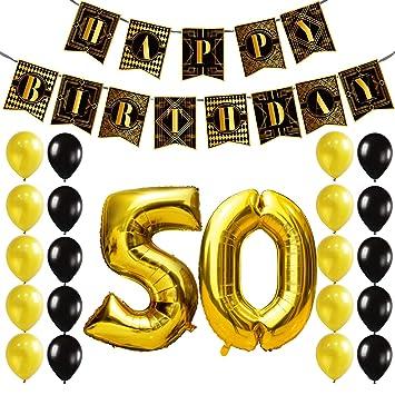 KUNGYO Decoracion Cumpleaños - 50 Años Decoraciones ...