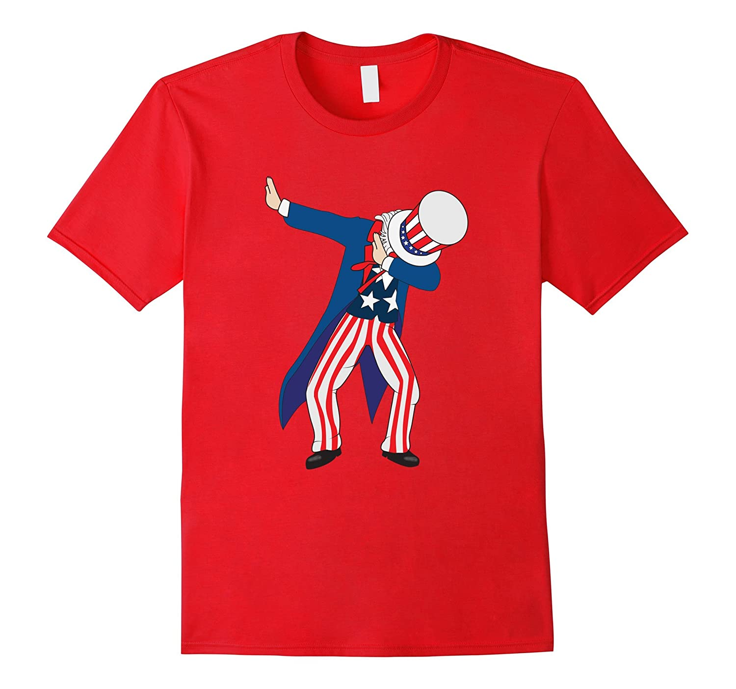 Funny Dabbing Shirt Sam Independence Day 4th of July T-shirt-PL