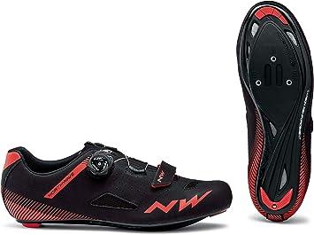Northwave Zapatillas de Ciclismo Core Plus Negro/Rojo: Amazon ...