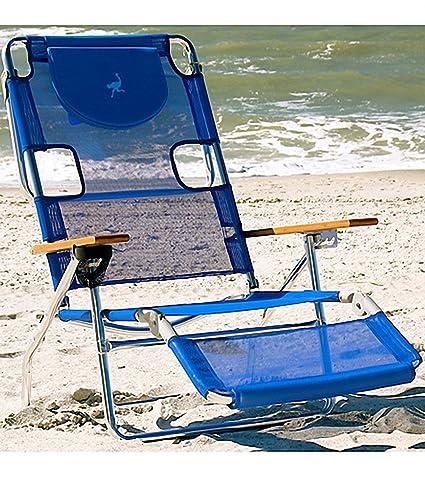 Amazing Amazon Com Ostrich Face Down 3N1 Reclining Beach Chair Frankydiablos Diy Chair Ideas Frankydiabloscom