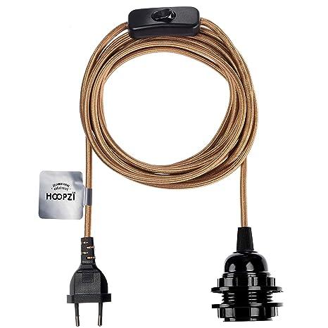 Ausschalter E27 Lampenfassung eu Kabelstecker in Pendelleuchte mit Ein-