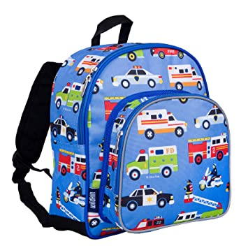 top fashion professional sale reputable site Wildkin Toddler Backpack-Action Vehicles, Polyester, Multi-Colour, Pack 'n  Snack