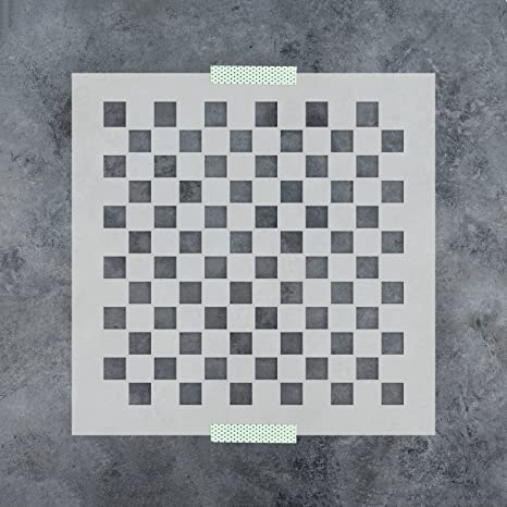 "Checkerboard Stencil 5 1//2/"" Free Shipping!"
