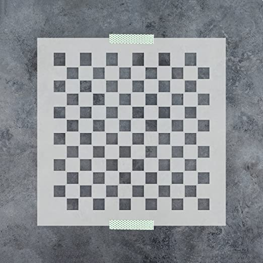 Amazon.com: Checker Pattern Stencil Template - Reusable Stencil with ...
