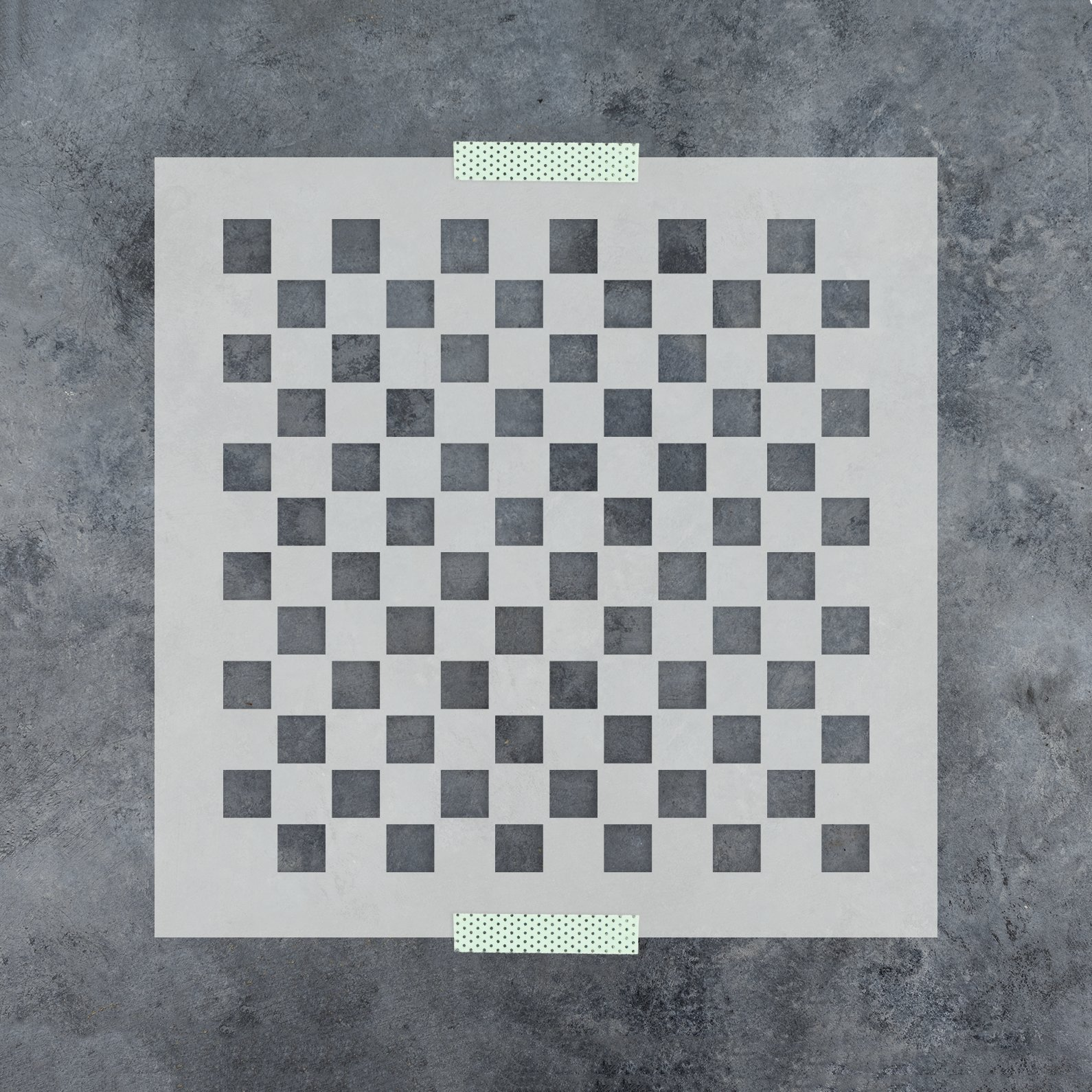 Checker Pattern Stencil Template - Reusable Stencil with Multiple Sizes Available